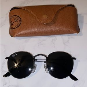 Black round ray ban sunglasses new